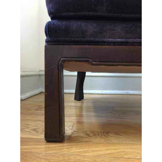 Wood Mid-Century Asian Slipper Chair For Sale - Image 7 of 12