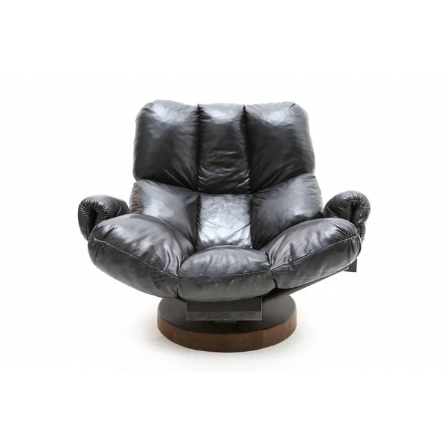 1970s Ribbed Koala Easy Chair For Sale - Image 5 of 7