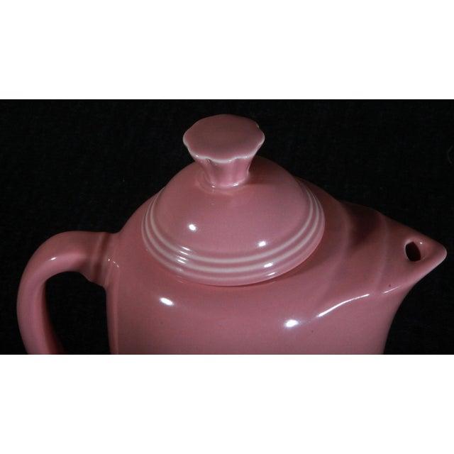 Mid-Century Modern Vintage Fiestaware Coffee Serving Pot in Rose Pink For Sale - Image 3 of 7