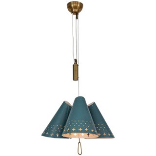 1950s Bent Karlby Counterweight Chandelier for Lyfa For Sale