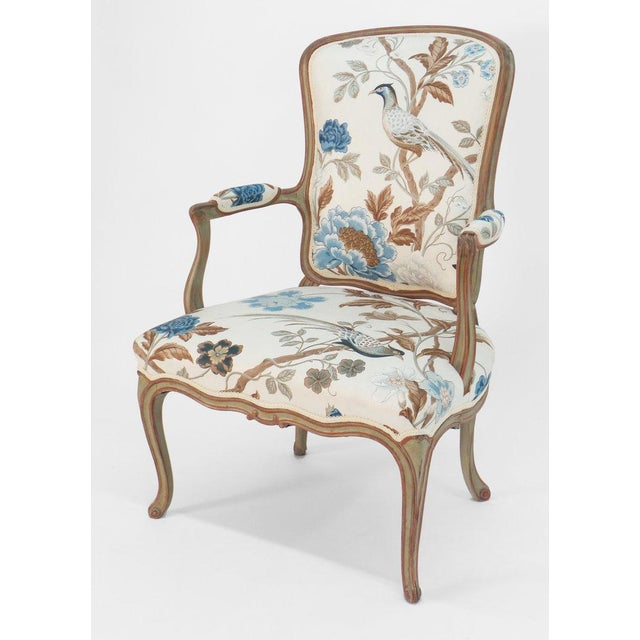 French Cole Porter Louis XV Style Armchair For Sale - Image 3 of 9