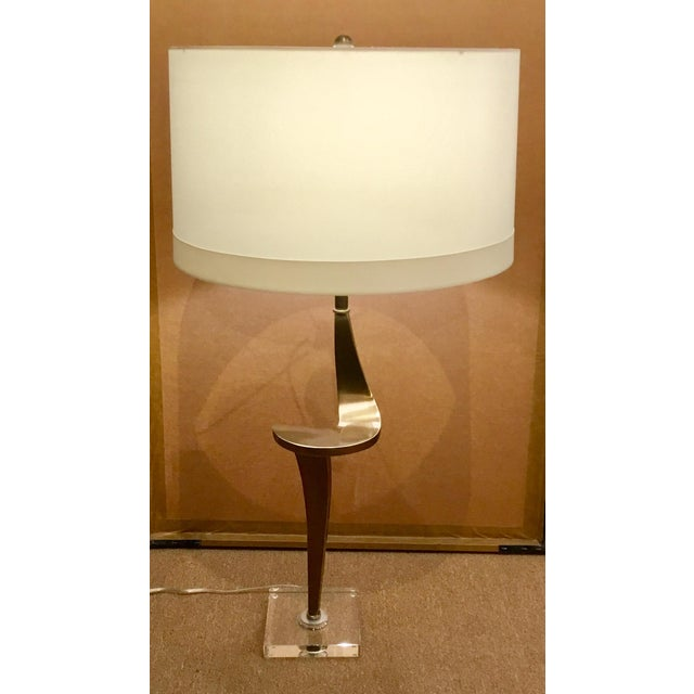 Metal Contemporary Arteriors Home Brass Roosevelt Table Lamp For Sale - Image 7 of 8