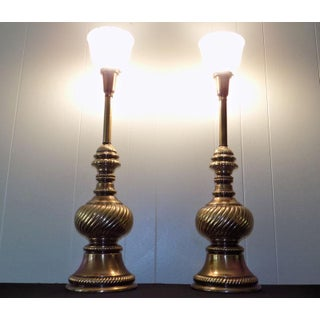 Rembrandt Masterpieces Torchiere Table Lamps - a Pair Preview