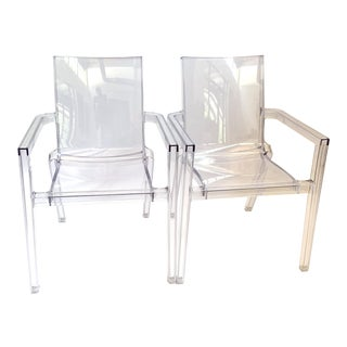 Deauville Clear Armchairs. Pair by Christopher Pillet For Sale