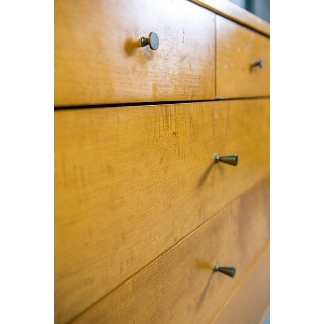 Winchendon Furniture Company Paul McCobb for Winchendon Twenty-Drawer Chest With Brass Pulls For Sale - Image 4 of 8