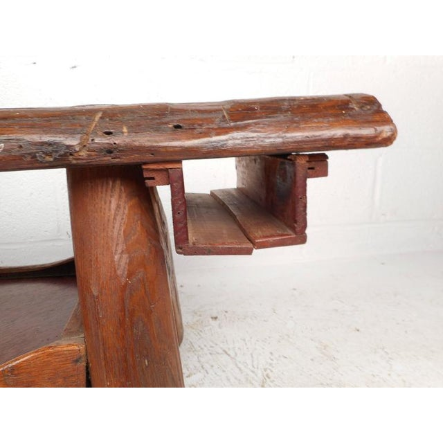 Mid-Century Modern Live Edge Cobbler Bench For Sale In New York - Image 6 of 7