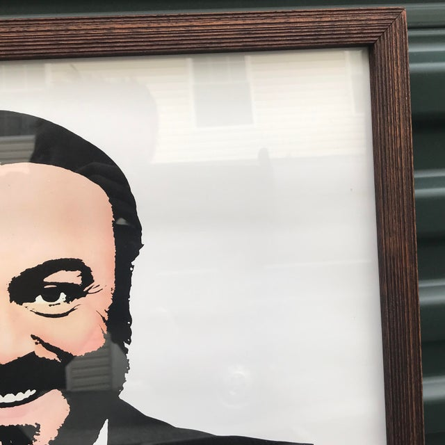 Contemporary 1983 Original Luciano Pavarotti Framed Concert Poster For Sale - Image 3 of 11