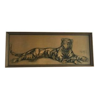 Tugomir Hughberger Abstract Leopard Framed Artwork For Sale