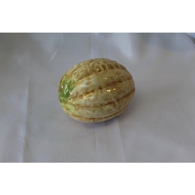 Italian Vintage Italian Ceramic Cantaloupe For Sale - Image 3 of 5