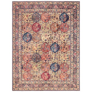 Room Size Antique Persian Tabriz Rug - 11′ × 14′ For Sale
