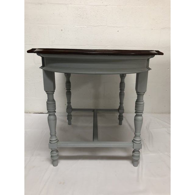 19th Century Italian Polished Rosewood Veneer on Top With Painted Wood Base For Sale - Image 4 of 9