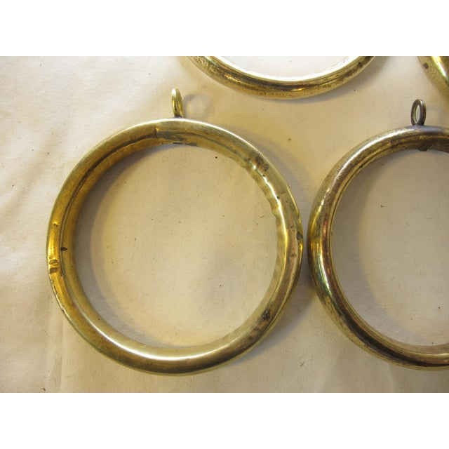 Antique Brass Curtain Rings - Set of 10 For Sale - Image 4 of 6