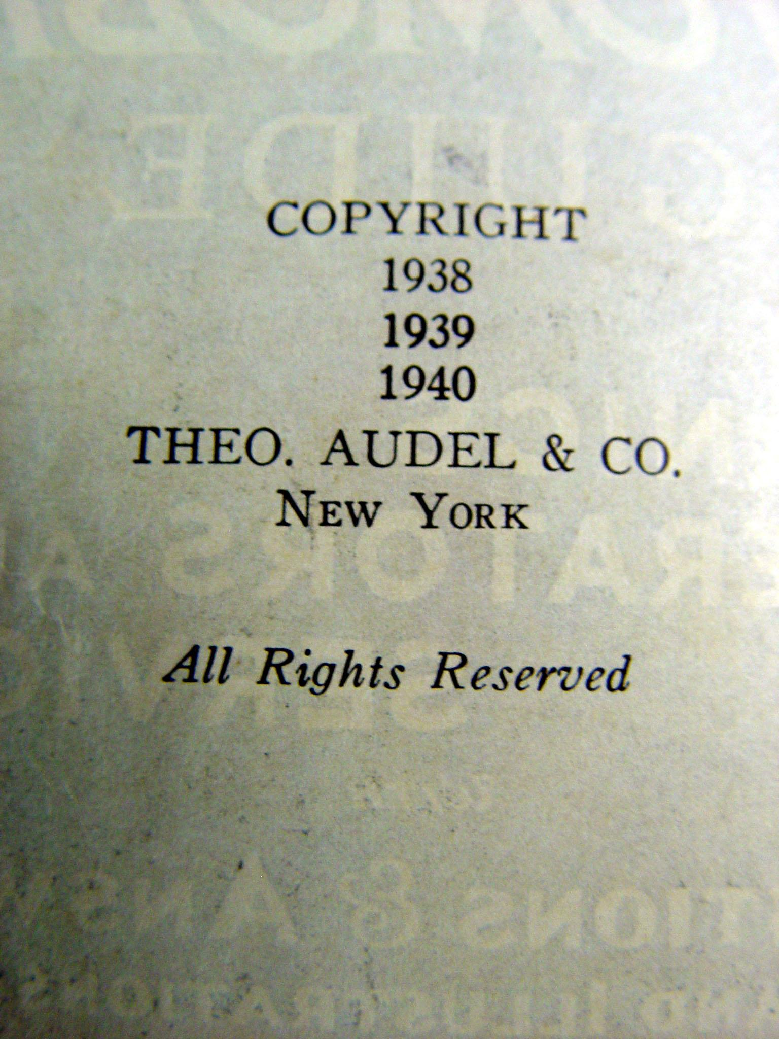 vintage 1940 audel s new automobile guide book chairish rh chairish com Audel LED Watch Audel Digital Watch