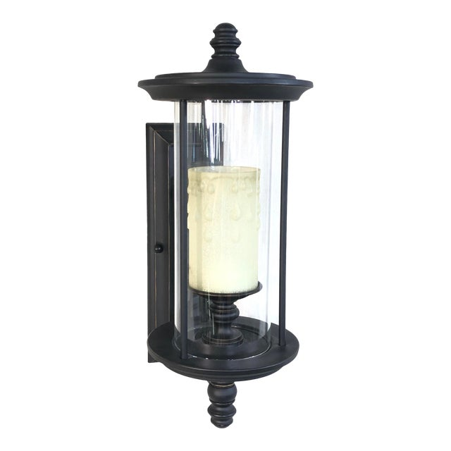 Savoy House Ch e 1-Light Outdoor Wall Lantern in English Bronze For Sale