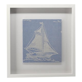 1980s Nautical Coastal Decor Textile For Sale