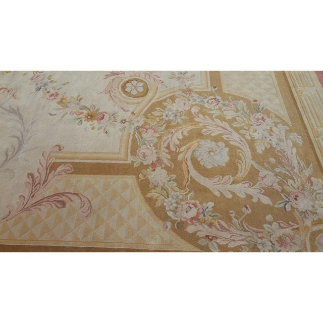 14'x19' Aubusson Design Hand Made Knotted Rug - Size Cat. 12x18 13x20 - Image 8 of 12