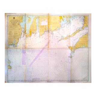 Vintage 1977 Martha's Vineyard to Block Island Nautical Chart Map