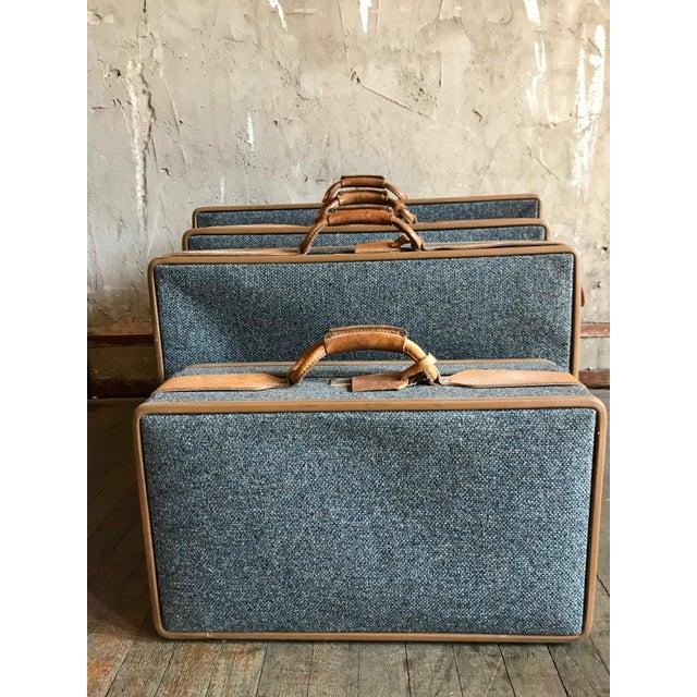 Luggage Style Furniture: Excellent Vintage Tweed Hartmann Luggage - Set Of 4