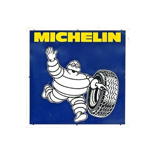 Vintage 20th Century Micheline Tire Man Sign For Sale