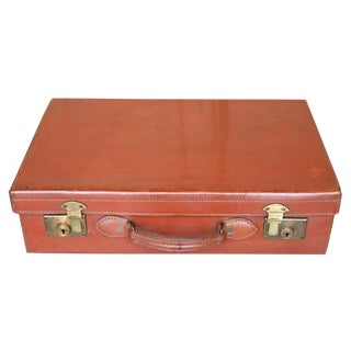 English Leather Suitcase For Sale