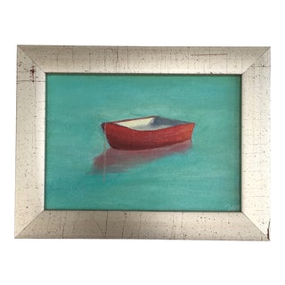 """Contemporary Original Acrylic Painting - """"Red Boat"""""""