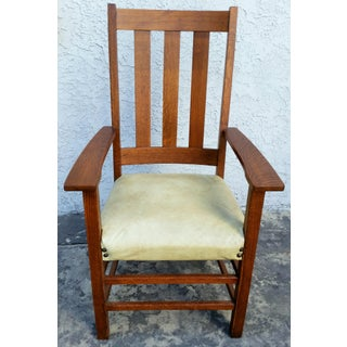 Early 20th Century Vintage Limbert Mission Tall Arm Chair Preview