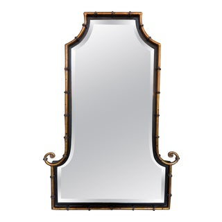 English Regency Style Lacquered Steel Mirror For Sale
