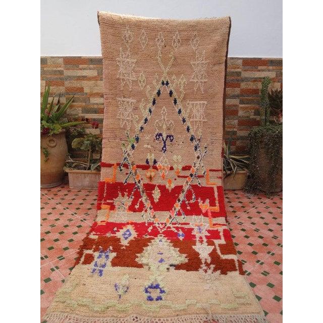 Vintage Moroccan Berber, Azilal Rug - 2′9″ × 7′ - Image 2 of 6
