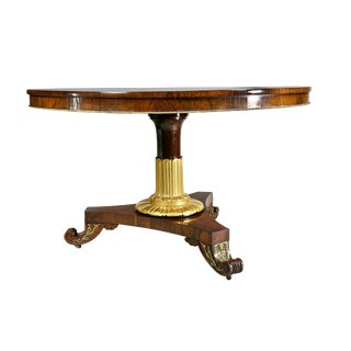 Fine Regency Rosewood and Inlaid Centre / Breakfast Table For Sale
