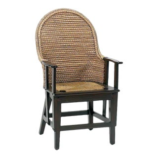 Orkney Isles Spoon Arm Dining Chair, Dark Walnut For Sale