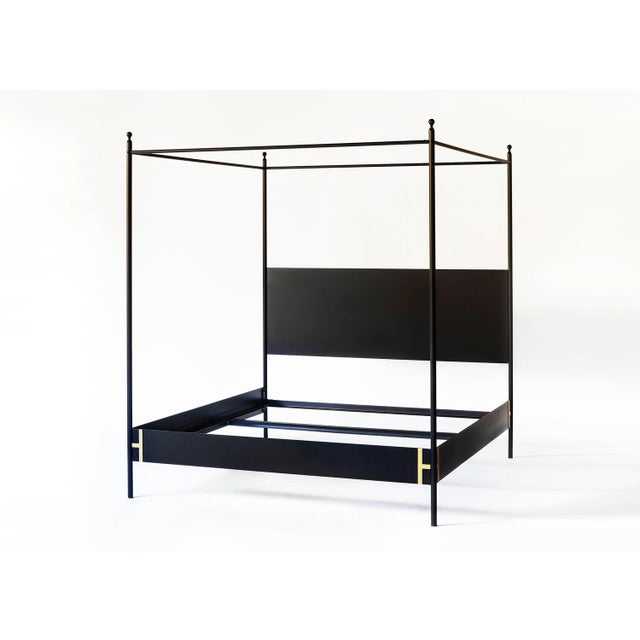 Contemporary Contemporary Josephine Canopy King Size Bedframe For Sale - Image 3 of 8