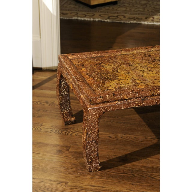 Gold Exquisite Mosaic Lacquered Coffee Table in the Style of Enrique Garcel For Sale - Image 8 of 11