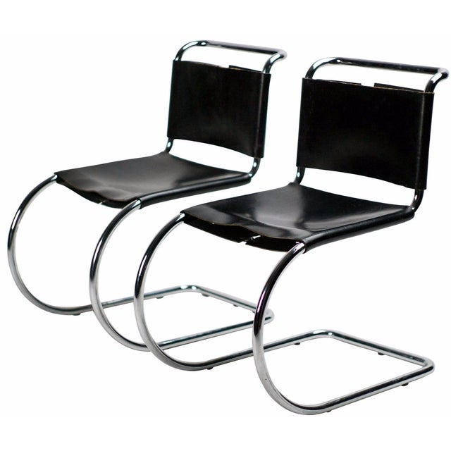 Mies van der Rohe for Knoll MR 10 Chairs - A Pair - Image 1 of 3