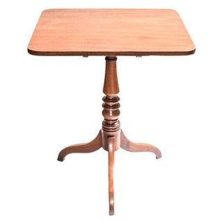 Antique Mahogany Tilt Top Table For Sale