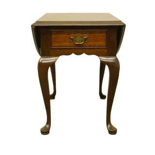"""20th Century Traditional Stickley Furniture Anniversary Collection Solid Cherry 32"""" Drop Leaf Pembroke Accent Table For Sale"""