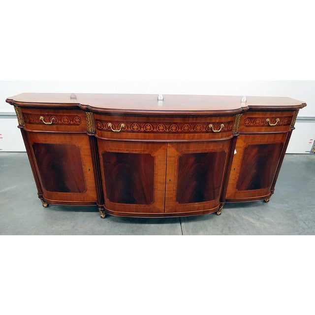 Decorative Crafts Regency Style Inlaid Sideboard For Sale - Image 13 of 13