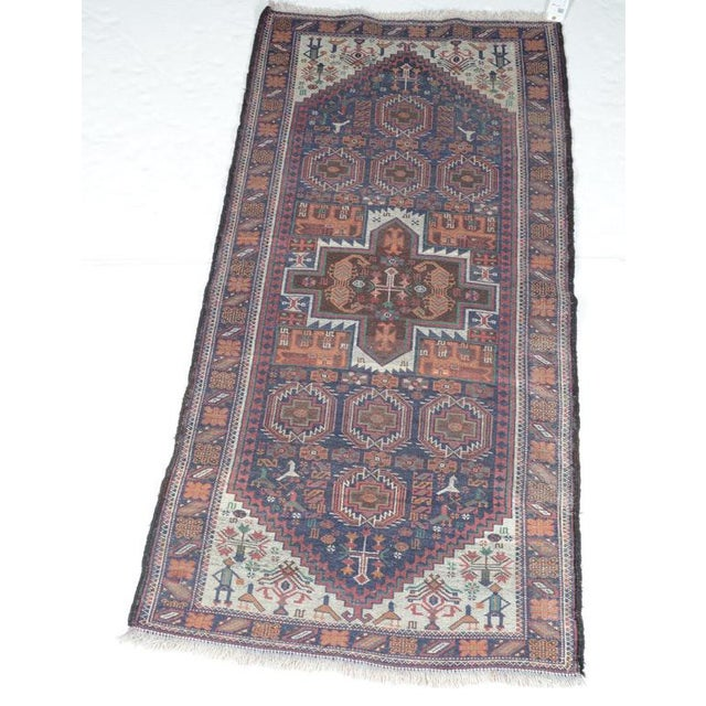 Hand Knotted Persian Baluch Rug - 3′3″ × 6′10″ For Sale - Image 9 of 9