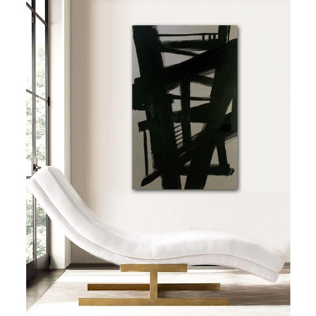 'TRESTLES' original abstract painting by Linnea Heide - Image 3 of 8