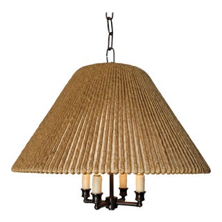 String Shaded Chandelier For Sale