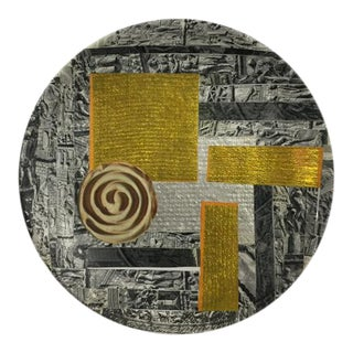 "Carl M. George ""Spiral"" Collage Plate For Sale"