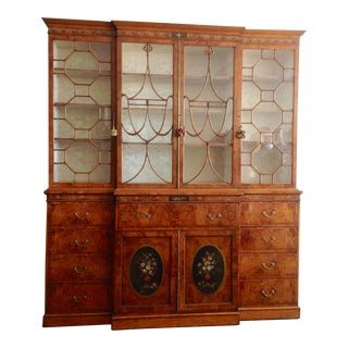 Documented 19th Century English Secretary or Breakfront For Sale