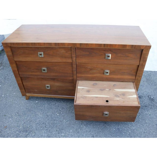 Walnut Chest of Drawer by Morris of California For Sale - Image 4 of 7