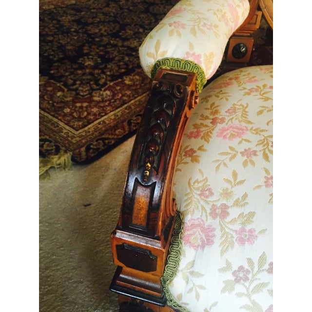 Antique Reupholstered French Armchair - Image 4 of 8