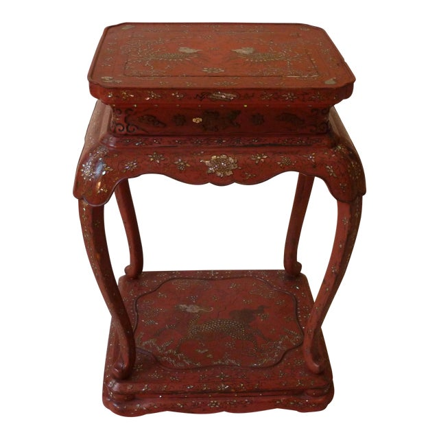 Chinese Laquer Drink Table For Sale
