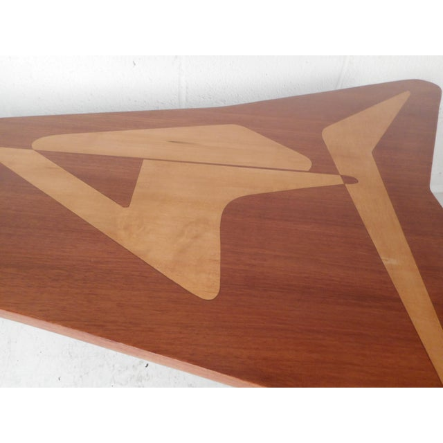 Brown Beautiful Contemporary Modern Boomerang Coffee Table For Sale - Image 8 of 10