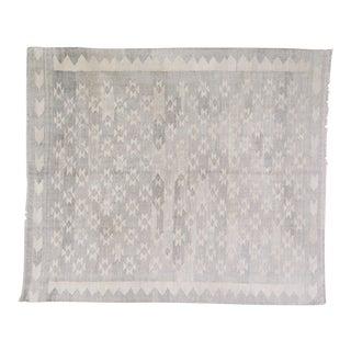 "Vintage Afghan Hand Made Organic Undyed Wool Maimana Kilim,5'x5'10"" For Sale"