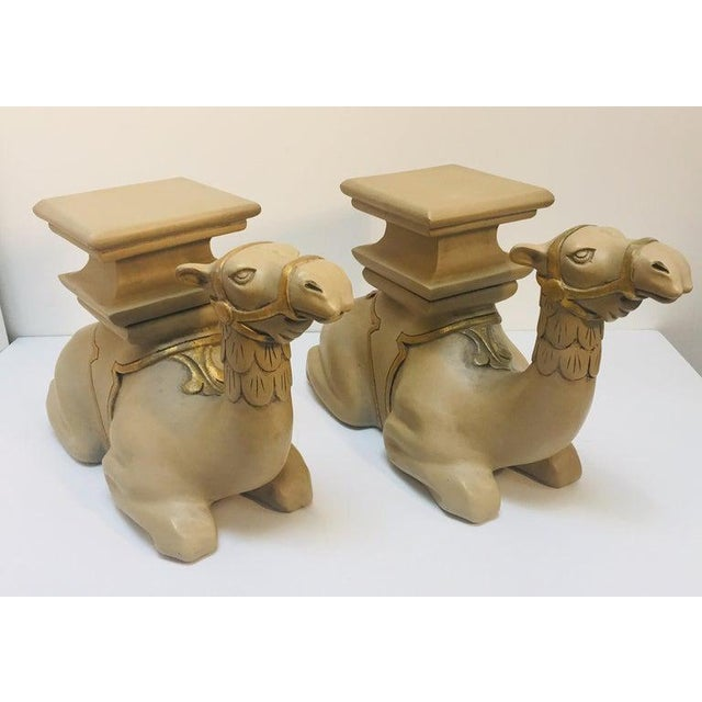 20th Century Moroccan Camel Sculptures Stools - a Pair For Sale - Image 13 of 13