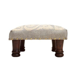 Suzani Embroidered Wood Footstool Preview