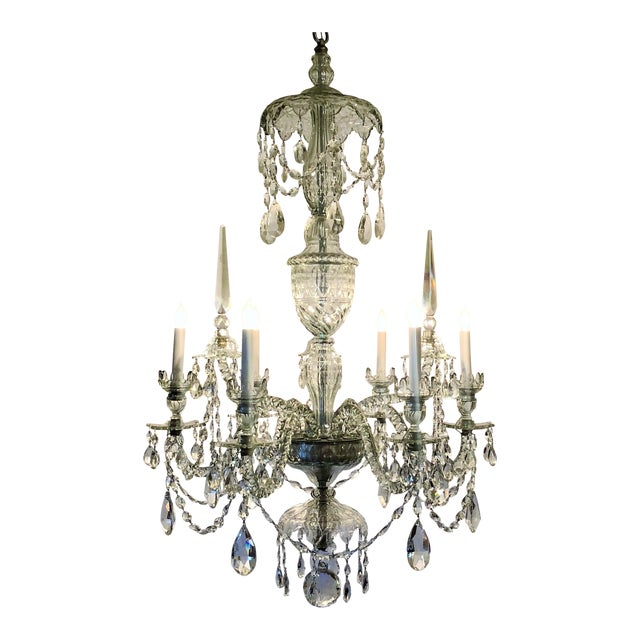 Antique Superb Quality Waterford Lead Crystal Chandelier, Circa 1880-1900. For Sale