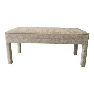 Vintage Upolstered Parsons Bench
